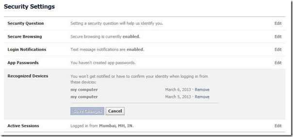 Facebook account login notifications_21