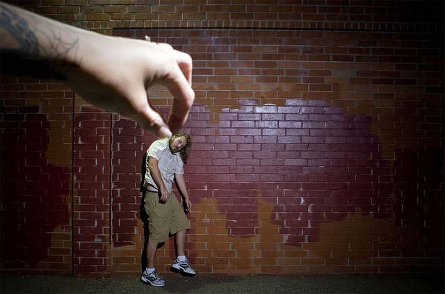 Forced perspective photography idea