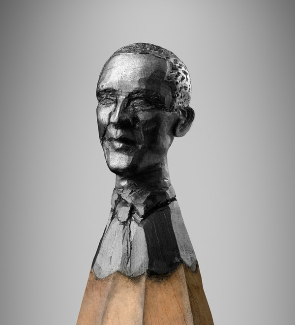 Pencil sculpture of Obama