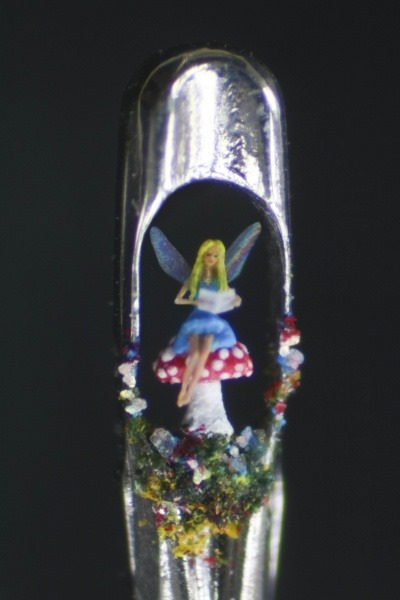 The Fairytale micro art sculpture