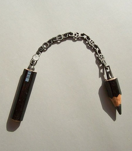 chain pencil carving