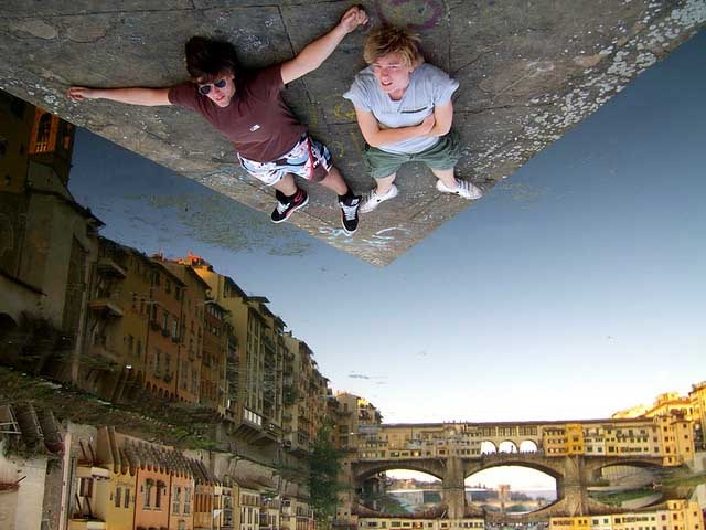 upside down optical illusion photo