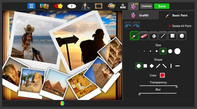 piZap photo editor and photo collage creator