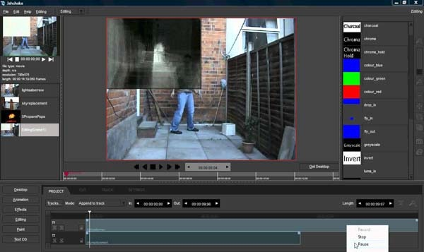 Jahshaka open source free video editing software